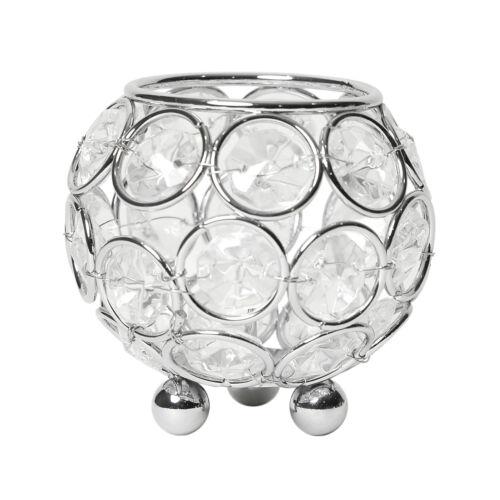 Vaso para flores Casamento... Designs elegantes Tigela Circular elipses Cristal Castiçal