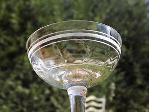 5 Verres A Vin A Eau 3 Coupes A Champagne 19 ème Graves A L'acide Verres