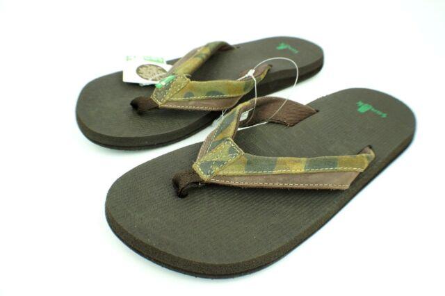 Men/'s Shoes Sanuk Beer Cozy Primo Light Sandals SMS10548 Dark Brown *New*