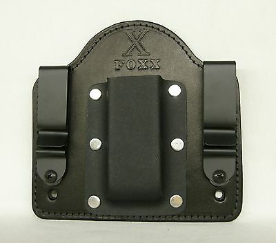 FoxX Holsters Leather /& Kydex IWB Double Magazine Carrier Sig P250 Ambidextrous