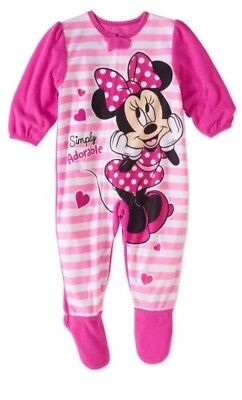 Minnie Mouse Fleece Footed Pajama Toddler Girls