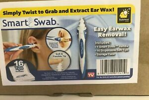 Ear-Wax-Removal-034-Smart-Swab-034-Spiral-Ear-Cleaner-Kit-New-w-16-Tips