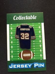 free shipping 5ea29 e5432 Buffalo Bills OJ Simpson jersey lapel pin-Classic Retro ...