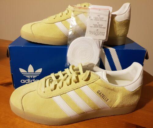 38 1 eur Trainers 2 Yellow Ice Adidas Gazelles 3 Bnib 5 2 Originals bnwtsize nvfxPx87