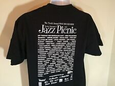 T-SHIRT  L 100% Cotton BLACK - PONY BOY RECORDS 10TH ANNUAL JAZZ PICNIC 2013