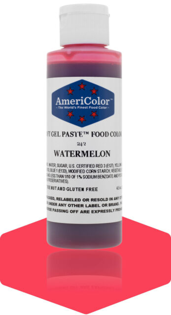 AmeriColor Food Coloring, Watermelon Soft Gel Paste, 4.5 Ounce for ...