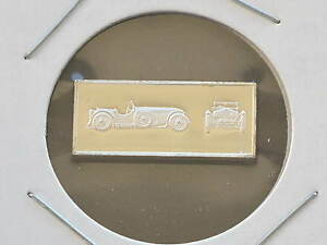 1931-Invicta-Tourer-2-5g-Proof-Sterling-Silver-Bar-Ingot-Franklin-Mint-D0857