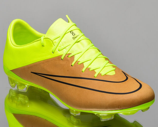 Nike Mercurial Vapor X LTHR FG Tech Craft Cleats Volt Canvas Sz 8 747565-707 39a090c4a