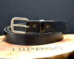 Vintage Black Leather Belt  Size 34