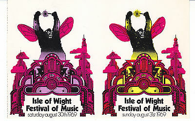 Genuine Isle Of Wight Festival Ticket 1969 Bob Dylan,The Who,King Crimson,Free