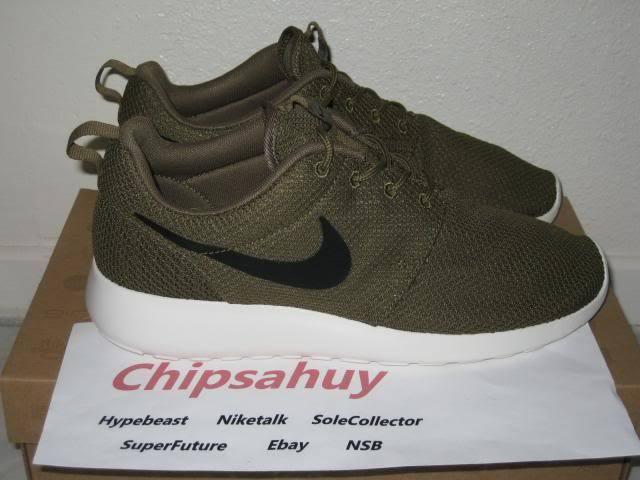 Nike Roshe Run One Iguana Mesh vert voile Chaussure ORIGINAL NEUF Dead Stock Taille 8