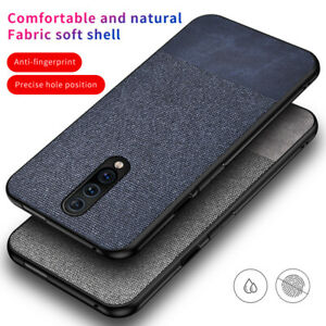 For-OnePlus-7T-Pro-6T-Fabric-Cloth-Case-Shockproof-Soft-Slim-TPU-Leather-Cover