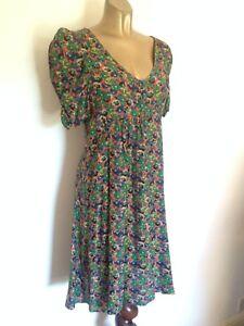 Dickins-amp-Jones-Floral-Print-Dress-Size-10