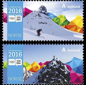 Noorwegen-2016-jeugdolympiade-postfris-mnh