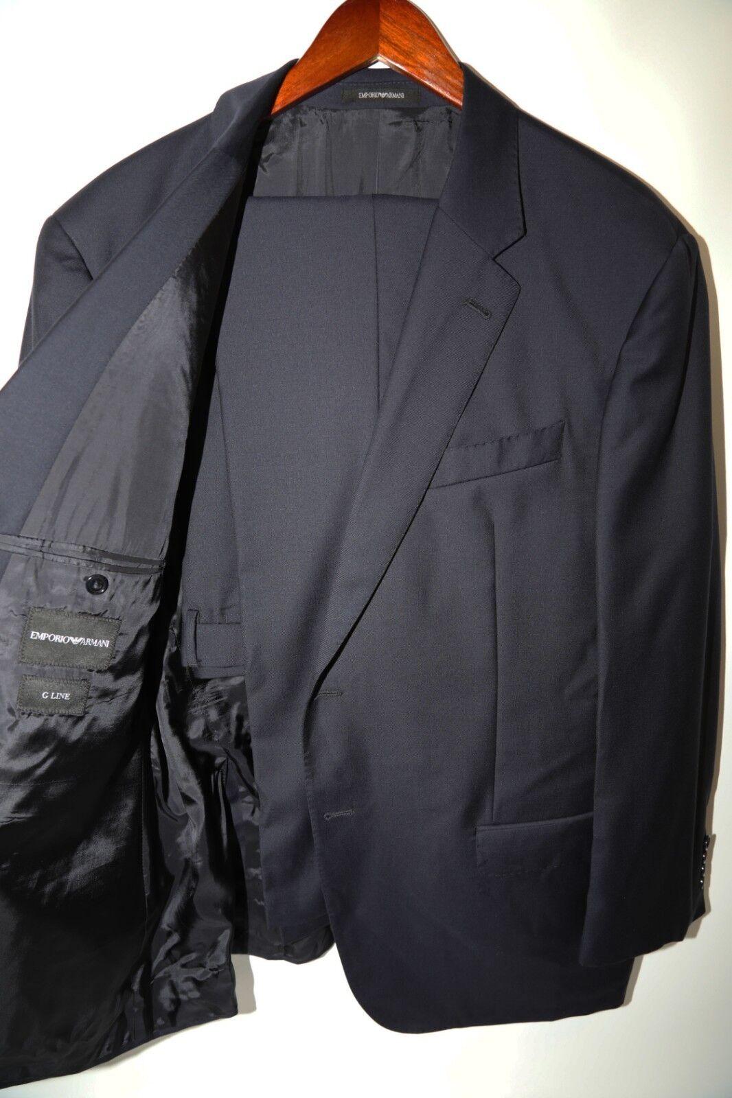 183 Armani Emporio Armani G Line Super 130's Two Button Suit Größe 48 R