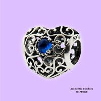 Authentic Pandora December Heart Birthstone Charm In 925 Silver, 791784nlb on Sale