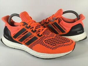 Details about Adidas Ultra Boost 1.0 Solar Orange Black White 2015 Mens Size 8.5 Rare S77413