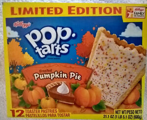 LIMITED-EDITION-Kellogg-039-s-Frosted-Pumpkin-Pie-Pop-Tarts-12-toaster-pastries-USA