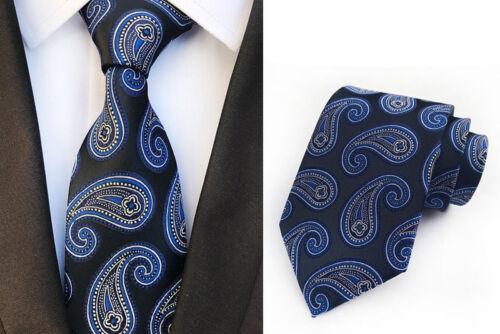Lot 5 PCS Men/'s Tie Neckie 8cm Silk Paisley Jacquard Woven Neck Ties For Wedding