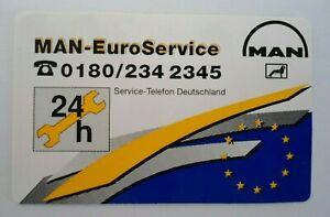 Bumper Stickers Man Euro Service 24h Hours Telephone Emergency 80er Truck Brummi