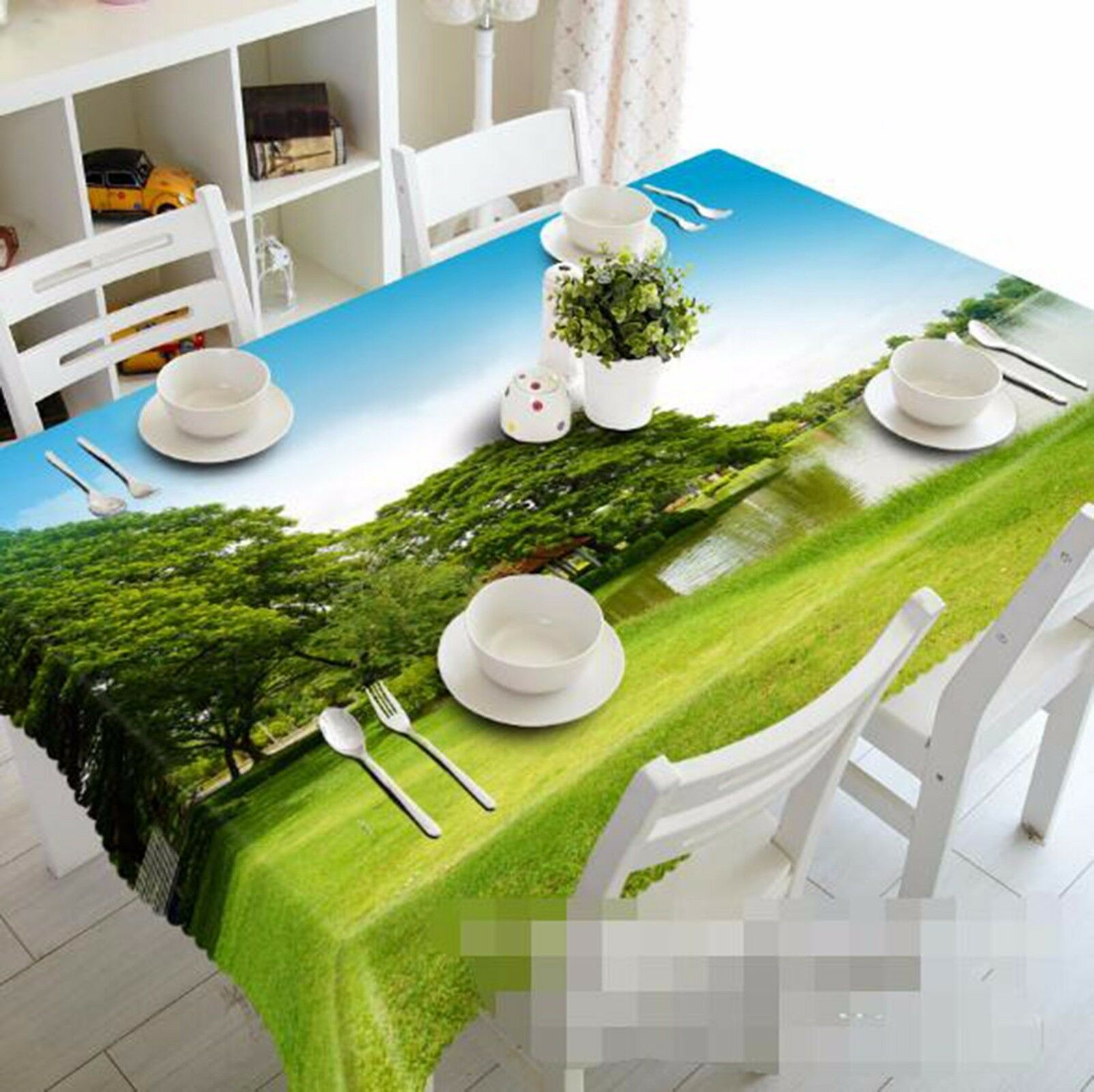 3D Meadow 461 Tablecloth Table Cover Cloth Birthday Party AJ WALLPAPER UK Lemon