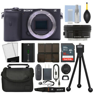 Sony Alpha a6600 Mirrorless 4K Digital Camera + 16-50mm Lens Black + 16GB Kit