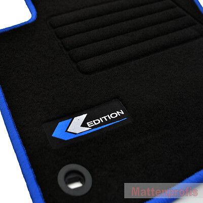 Mattenprofis Velours Fußmatten Logo blau für VW Golf 5 V Plus Bj.2005 - 2009 ov