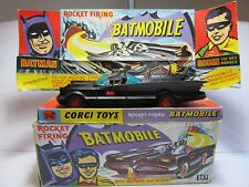 CORGI TOYS 267 BATMAN BATMOBILE 'MATT BLACK' 1ST ISSUE 1966 CAR BOXED VERY RARE