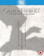 GAME OF THRONES Complete HBO TV Season 3 Bluray Box Set Collection + Extras New