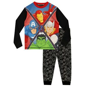 MARVEL AVENGERS Pyjamas Hulk Iron Man Captain America Spiderman Thor Age 3-10 y