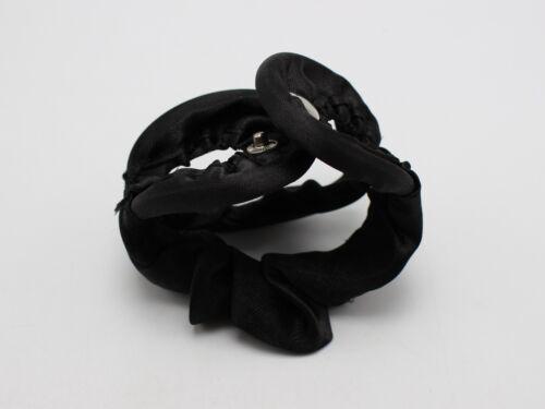 2 Black Magic Clip Donut Hair Styling Bun Curler Maker Ring Twist Tool 175mm
