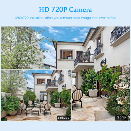Wired//Wireless 4CH 1080P NVR Outdoor 720P WiFI IR-CUT Camera Security System US