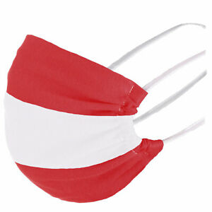 Maske Baumwolle Öko Tex Mund-Bedeckung Österreich Mundschutz Flagge Wien Corona