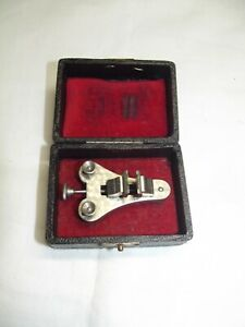 Antique-Watchmaker-Tool-in-case-Watch-Tools-Klemmstock-Vise