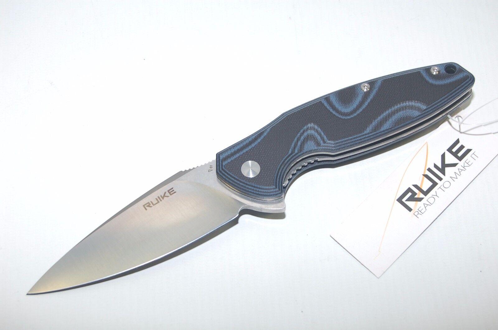 Ruike Fang P105-K Pale Blau 14C28N Stahl Einhandmesser Taschenmesser G10 Griff
