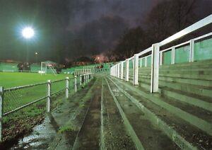Non-League-Football-Ground-Postcard-Hitchin-Town-FC-Topfields-Hertfordshire