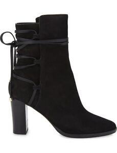 970adb2252c0 JIMMY CHOO  Hampton  Black Suede Ankle Boots Block Heels Size UK 6 ...