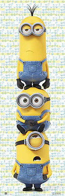 MINIONS - THE MOVIE - DOOR MOVIE POSTER / PRINT (KEVIN, STUART & BOB)