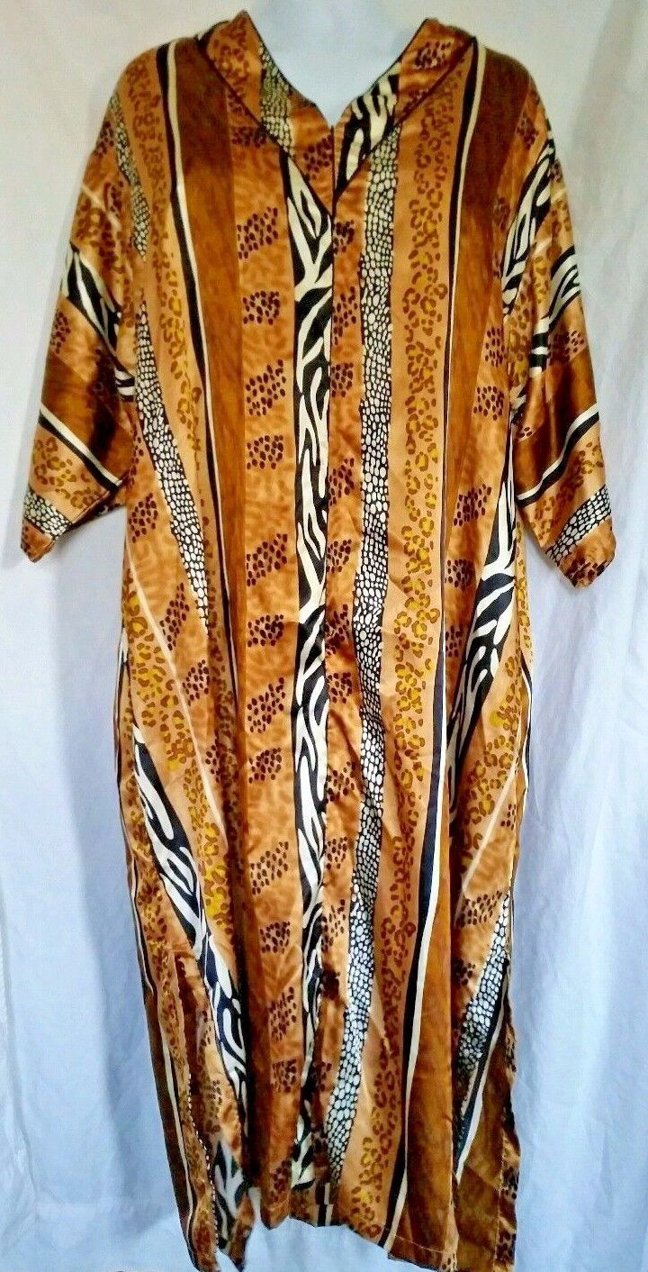 African Lounge Dress Size 2XL Luxell Intimates Animal Prints