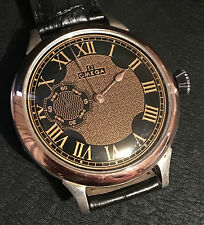 ANTIQUE OMEGA WRIST WATCH REGULATOR SECOND HAND NEW CONVERSION STERLING SILVER
