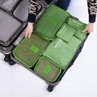 6 Pcs/Set Square Travel Luggage Storage Bags Clothes Organizer Pouch Case#X