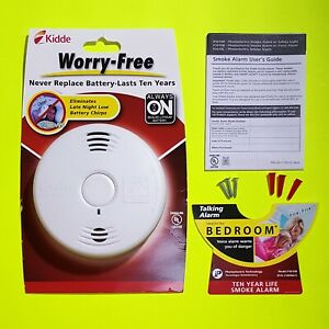 Kidde Talking Smoke Detector 10 Year Battery Wireless