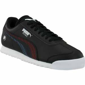Puma-BMW-MMS-Roma-Sneakers-Lace-Up-Sneakers-Casual-Sneakers-Black-Mens-Size