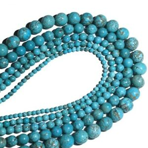 4-10mm-Wholesale-Natural-Stone-Turquoise-Gemstone-Spacer-Loose-Beads-Jewelry-DIY