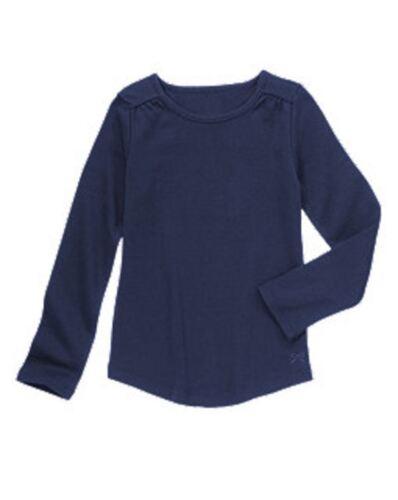 NWT Gymboree Girls Bright Ideas Soft Navy Long Sleeve Tee Size 4 6 /& 7