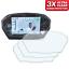 Ultra Clear 3 x TRIUMPH STREET TRIPLE R RS Dashboard Screen Protector