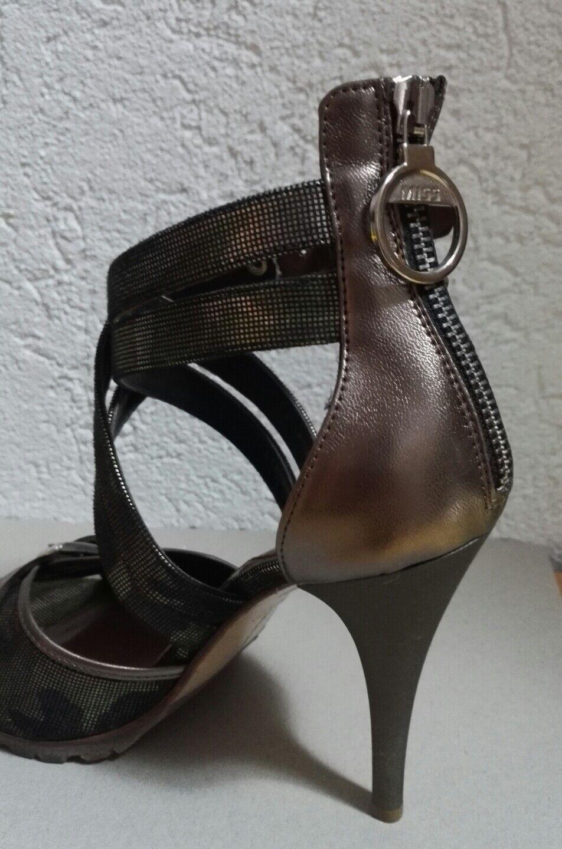 Miss Sixty Sandalette Sandalette Sandalette camouflage Militär muster khaki metallic 39 high heels neu d2302d