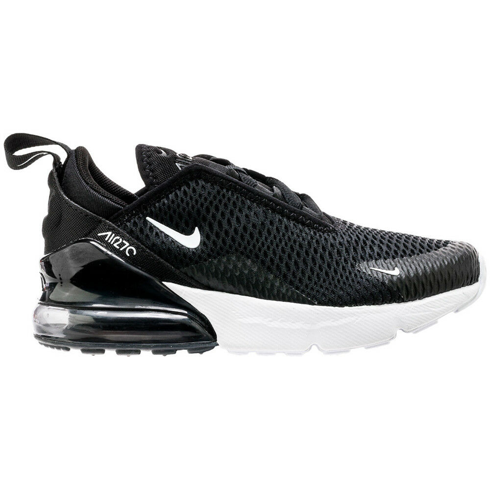 Nike Air Max 270 Mens AH8050-002 Black White Knit Athletic Running shoes Size 14