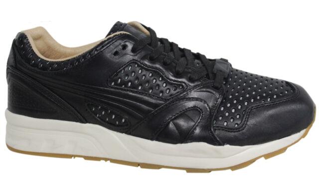 Puma Trinomic XT + Leather Lace Up Mens Black Casual Trainers 358822 01 D109