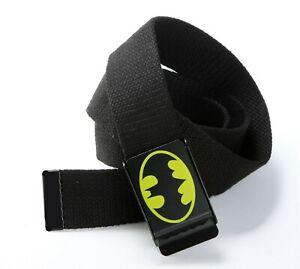 Boys-Men-Lady-Casual-Superman-Or-Batman-Canvas-Adjustable-Pants-Buckle-Belt